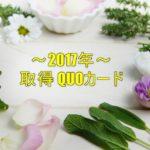 2017年 取得QUOカード一覧